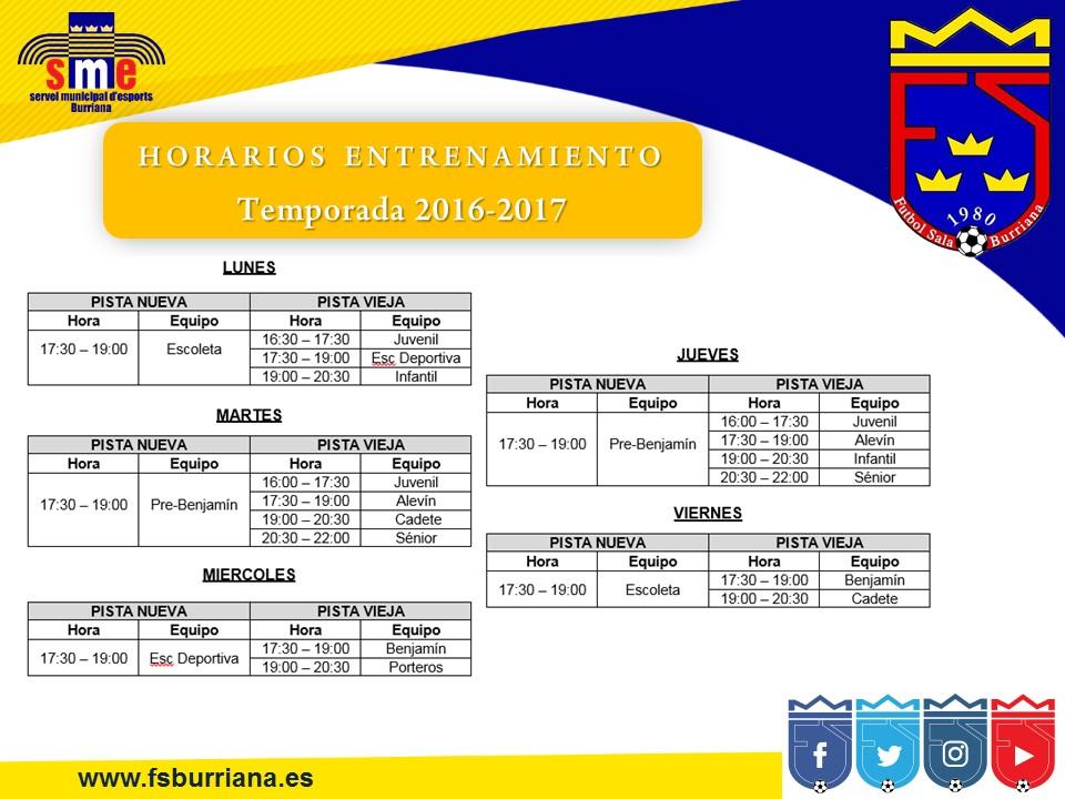 HORARIOSentrenamientos20162017